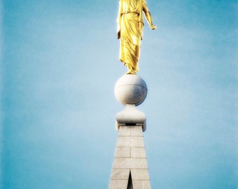 The Angel Moroni - Salt Lake City LDS Temple - Digital Photography download