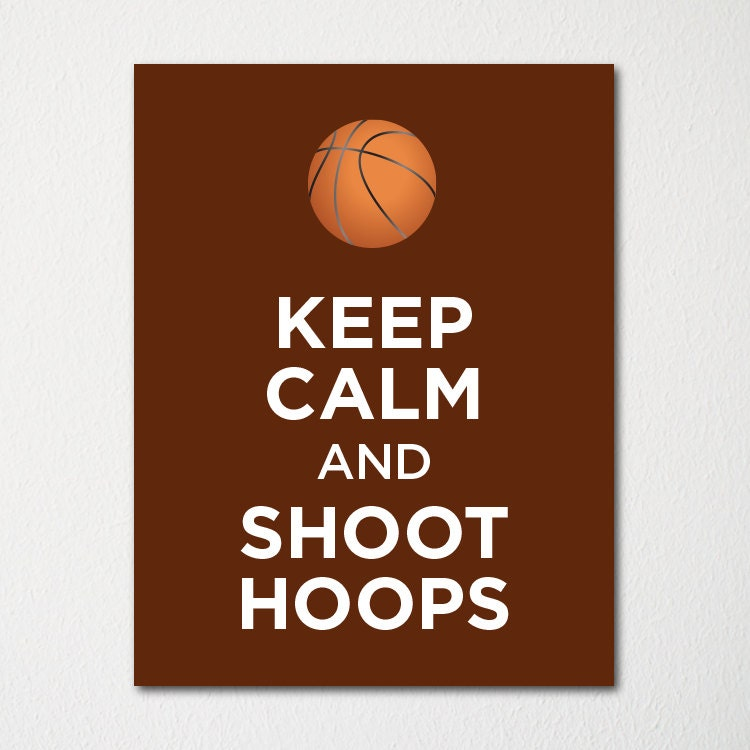 Keep calm and shoot hoops fine art print by letskeepcalm on etsy