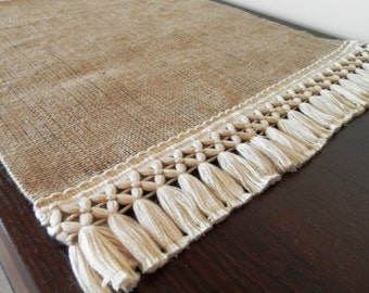 "Burlap Table Runner 18"". Choose your length"