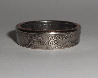 New York US quarter  coin ring size  or pendant