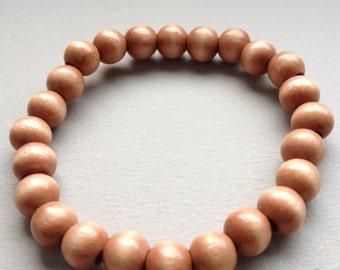 Dark Wood beaded bracelet