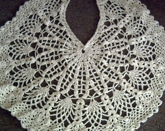 Cream Aran crochet shawl
