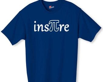 Inspire Pi Math Nerd Shirt S-2XL