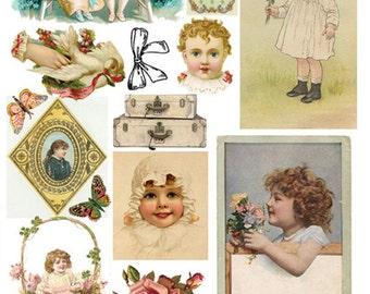 Creative Curio Collage Sheet  No.3370A