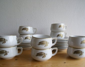 Cups Turtle Thomas Lacroix, Years 60, espresso, amuse