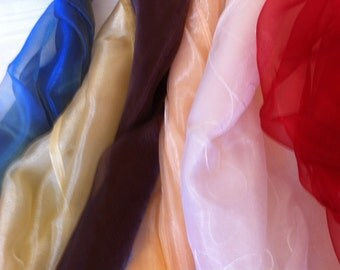 Shimmery Organza Evening Wraps