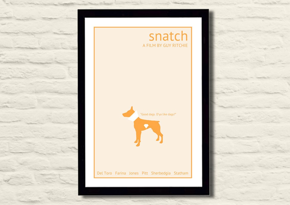 Snatch Movie Poster Art Print 11 X 17 Minimalist Modern