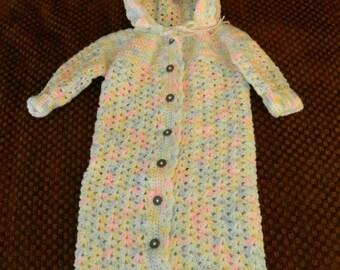 Handmade Crocheted Baby Bunting
