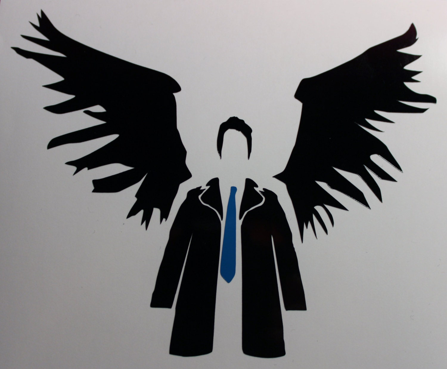 Removable Christmas Wall Stickers Supernatural Castiel Decal