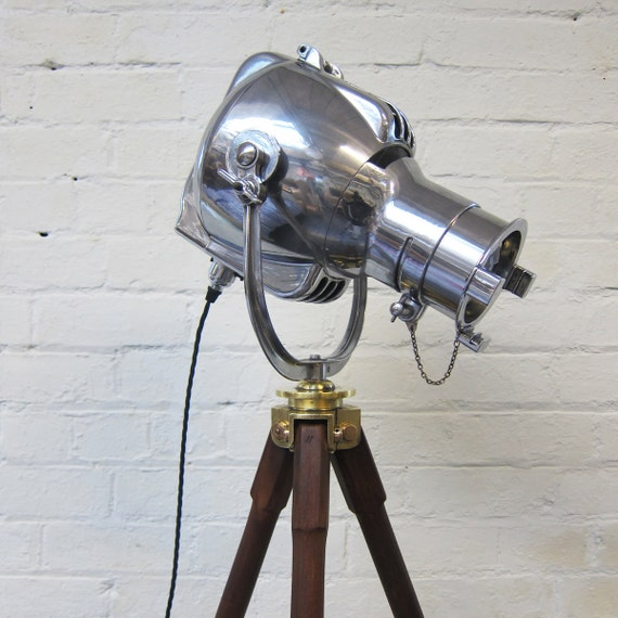 Vintage Light On Tripod - 1960s Industrial Strand Theatre Lamp