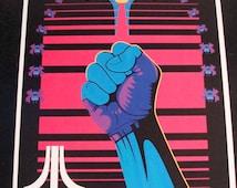 Atari Galaga art print