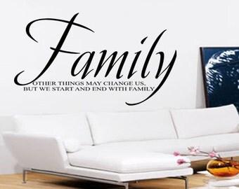 Family Wall Art - Vinyl Wall Art Sticker Decal