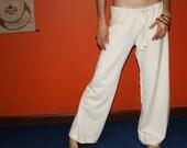 hemp pants - pajama yoga lounge pants - 100% hemp and organic cotton - custom made to order - unisex