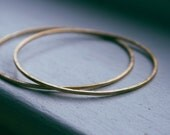 textured brass bangle - round bangle bracelet