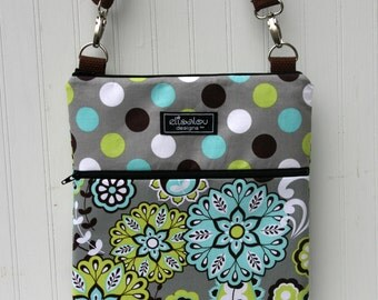 iPad Padded Sling Bag- Harvest Bloom & Dot