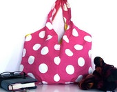 CUSTOM Tote Bag Cheerful Pleated Bag with lots of shape