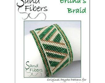Peyote Pattern - Erlina's Braid Peyote Cuff / Bracelet  - A Sand Fibers For Personal/Commercial Use PDF Pattern
