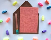 Card: Tiny Hearts - Coral Pink