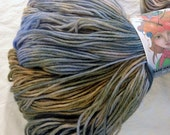 Hand Dyed Hand Painted Superwash Merino Wool Sock Yarn Knitting Yarn Light Blue, Gray, Light Brown, Hand Dyed 462 Yds Fingering Weight