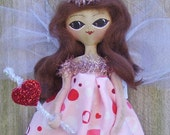 Fairy Doll Folk Art Primitive Love
