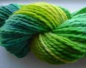 MAIDENHAIR - (120 yards) Vibrant Teal green Handdyed Bulky Wool Yarn Skein