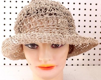 Summer Natural Crochet Hat Womens Hat Trendy, Natural Hat, SHADY LADY Wide Brimmed Hat, Crochet Hat, Wide Brim Hat, Strawberry Couture
