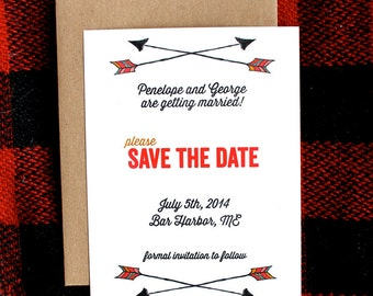 Arrows Save the Date- set of 25
