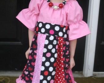 Lots of Love Valentines Peasant Dress