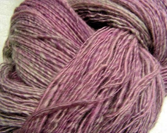 y277 Hand Dyed and Hand Spun Wool Silk Blend SP Lace Weight Yarn Free Shipping in US