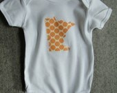 onesie 0 to 6 to 12 month custom YOUR state minnesota winsconsin