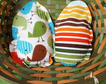 2 Egg Bean Bags - Sensory Toy / Party Game / Party Favor - Beanbag Toss Game - Easter Gift - Preschooler Toy - Toddler Game - Pretend Play