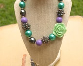 Purple and Green Bublegum Necklace