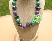 Purple and Green Bublegum Necklace