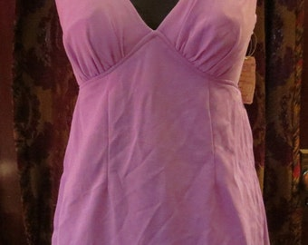 Vintage 1960's NOS Light Purple 2 Piece Bathing Suit Small