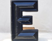 "vintage marquee letter ""E"""
