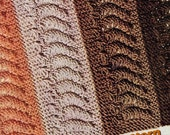 OOP 40s Afghan Pattern Knit in Strips Falmouth PDF Repeating Wave Theme