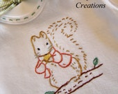 Timmy Tiptoes Squirrel - Onesie, Bodysuit, or Tee Shirt - Hand Embroidered for Boy or Girl
