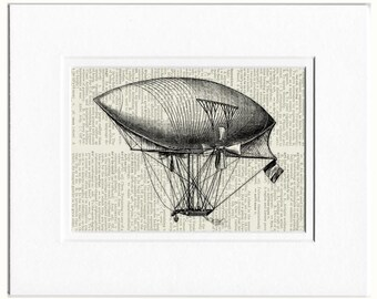 hot air balloon V print