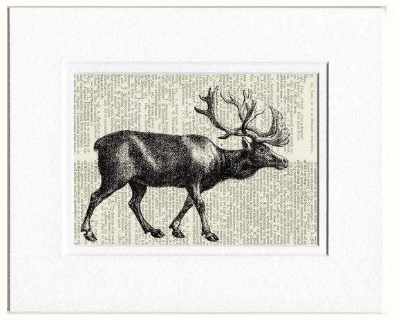 reindeer dictionary page print