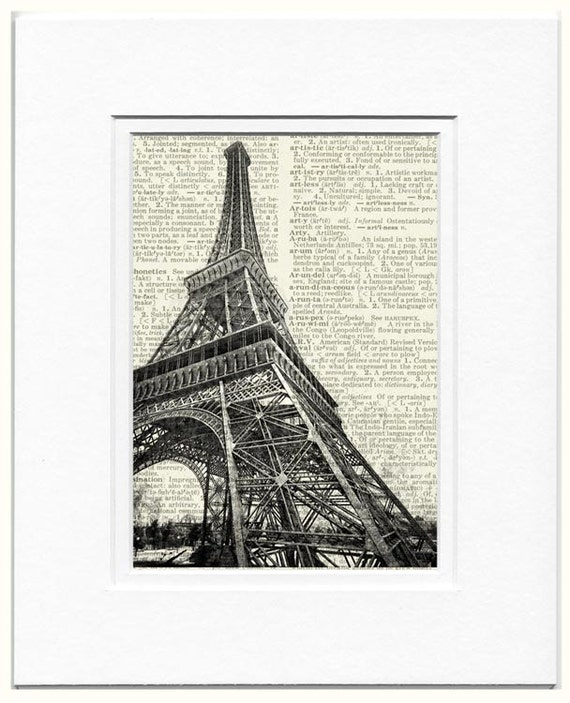 1889 La Tour Eiffel II in B and W print