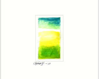 Meditations.. Series..No.12- Original Abstract Painting in 8x10 mat by Kathy Morton Stanion EBSQ
