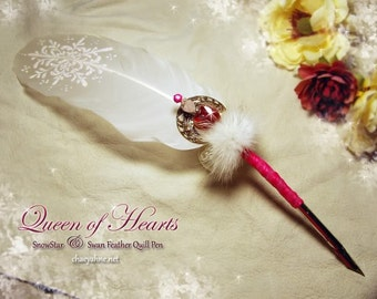 QUEEN of HEARTS 2013 Love Letters Series Swan Feather Quill Pen ... Valentines Day