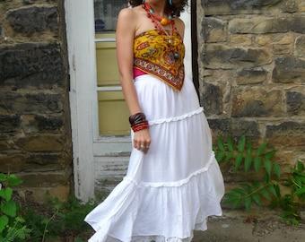 Vintage Saks 5th Ave. eyelet maxi skirt