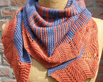 PDF knitting pattern scarf, shawl, scarflette, wrap, neckwarmer: Prosper