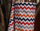 Nursing cover, Riley Blake  modern chevron,  matching bag included