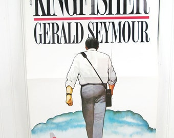 Vintage Book Advertising Poster - Kingfisher by Gerald Seymour - Thriller Suspense Novel