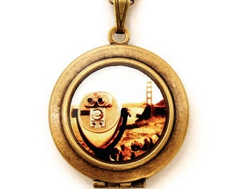 Bridge View - Photo Locket Necklace - San Francisco Viewfinder