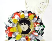 Recycled Jewelry Paul McCartney Flower Brooch