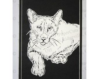 Cougar Papercutting- Handcut Original