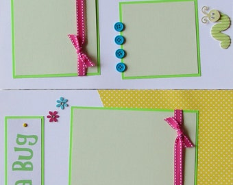 12x12 Premade Scrapbook Pages -- CUTE AS A BUG -- LaDyBuG, DrAGonfLy, BuTTerFLy